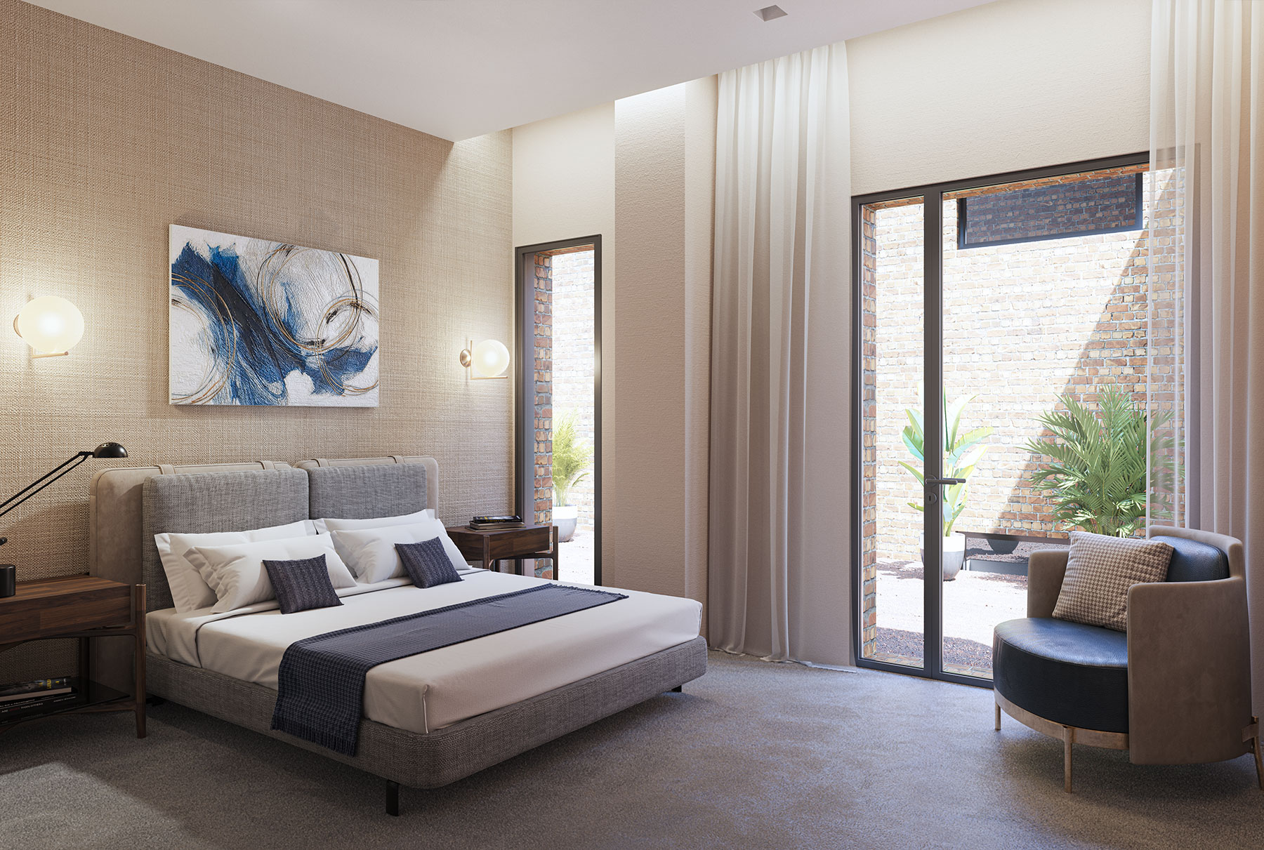 Luxurious Eaton Square Carpeted Bedrooms