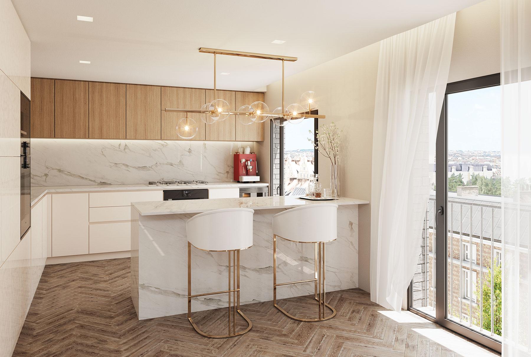 Magnificently Engineered Chevron Oak Flooring